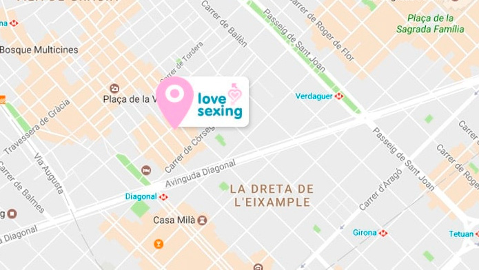 Mapa tienda Lovesexing Barcelona
