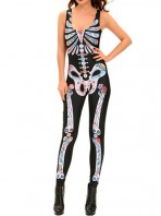 Disfraz Queen Catsuit Esqueleto de Colores