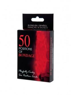 Juego de Cartas Eróticas 50 Posiciones Bondage